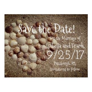 Salvar o cartão da data - praia/Seashells