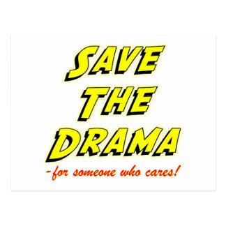 Salvar o cartão da dissolução do drama