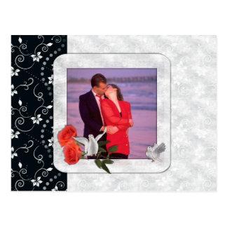 Salvar o cartão da foto da data cartão postal