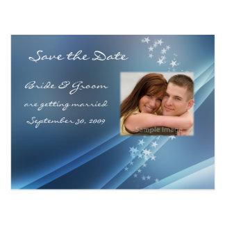 Salvar o cartão da foto das estrelas da data cartoes postais