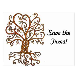 Salvar o cartão das árvores cartão postal