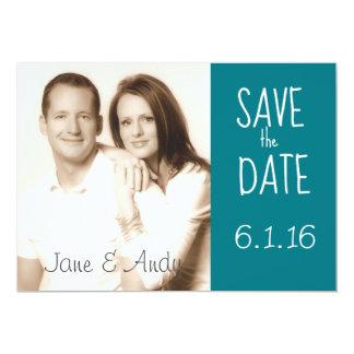 Salvar o cartão de casamento da foto da data convite 12.7 x 17.78cm