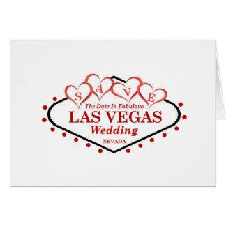 Salvar o cartão de casamento de Las Vegas da data