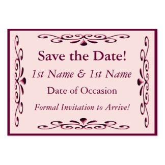 Salvar o cartão de data cartão de visita grande