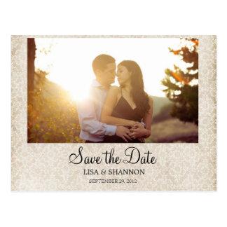 Salvar o cartão de data cartão postal