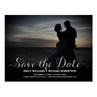 Salvar o cartão de data com casal romântico