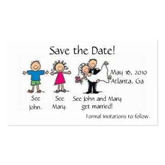 Salvar o cartão de visita da data
