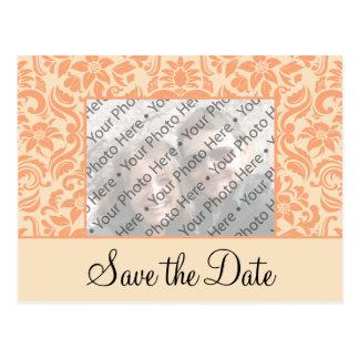 Salvar o cartão do anúncio da data com foto cartão postal