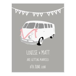 Salvar o cartão do casamento da data cinzento e