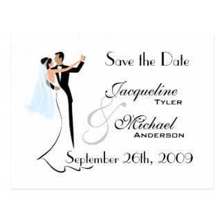 Salvar o cartão do convite do casamento da data cartão postal