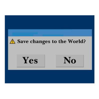 Salvar o cartão do mundo