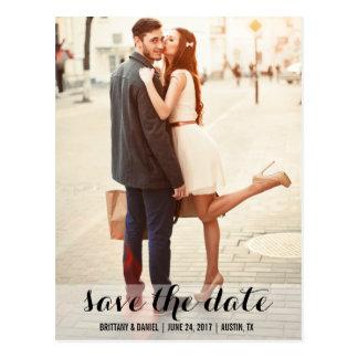 Salvar o cartão moderno L do noivado da data