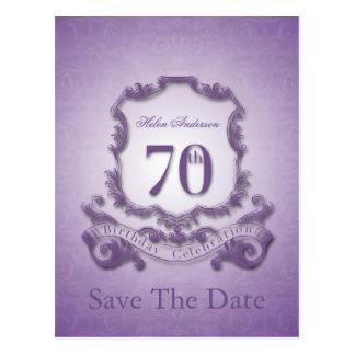 Salvar o cartão personalizado aniversário do 70 da