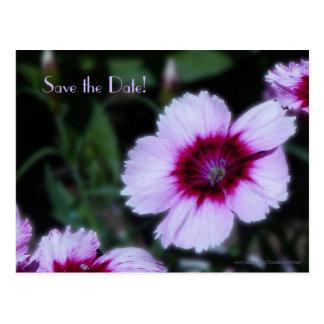 Salvar o cartão roxo da flor do 75th aniversário