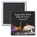 Salvar o casamento da data no ímã de Las Vegas Imas De Geladeira