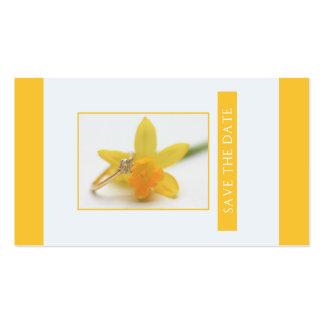 Salvar o casamento do primavera do Daffodil da Cartão De Visita
