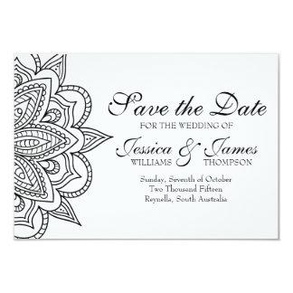 Salvar o casamento inspirado do cartão de data convite 8.89 x 12.7cm