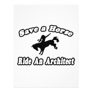 Salvar o cavalo, arquiteto do passeio modelo de panfleto