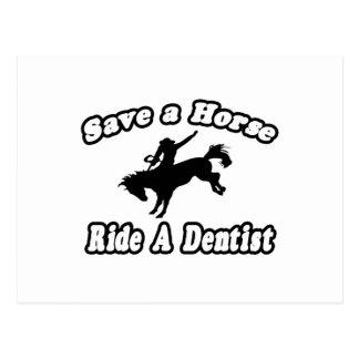 Salvar o cavalo, dentista do passeio cartao postal
