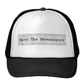 Salvar o chapéu dos jornais boné