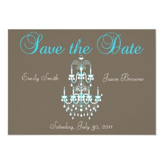 Salvar o convite do candelabro da data