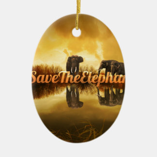 Salvar o design dos elefantes ornamento de cerâmica