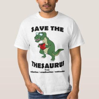 Salvar o dinossauro da enciclopédia camiseta