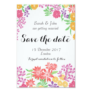 Salvar o divertimento brilhante floral do cartão
