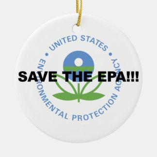 Salvar o EPA Ornamento De Cerâmica