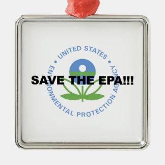 Salvar o EPA Ornamento De Metal