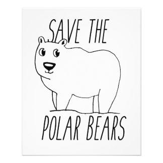 Salvar o insecto dos ursos polares flyer 11.43 x 14.22cm