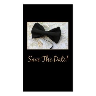 Salvar o laço da data no vestido cartão de visita