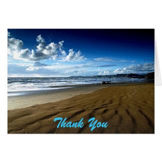 Salvar o obrigado da praia da data você cartão de