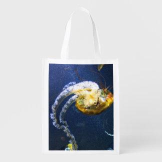 Salvar o oceano sacolas reusáveis