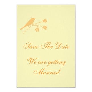 Salvar o papel de carta clássico do casamento da convite 8.89 x 12.7cm