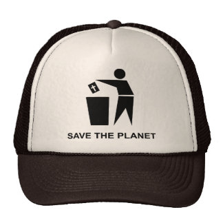 Salvar o planeta - bíblia no lixo bone