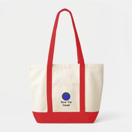 Salvar o planeta! bolsa de lona