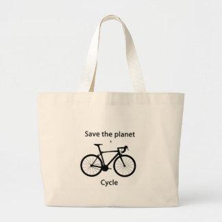 Salvar o planeta e dê um ciclo bolsas