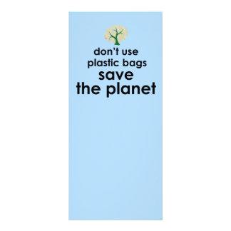 Salvar o planeta 10.16 x 22.86cm panfleto