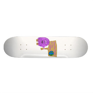 salvar o planeta para as crianças shape de skate 21,6cm