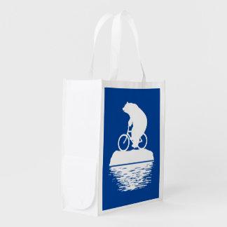Salvar o planeta: Saco reusável da bicicleta do Sacola Ecológica Para Supermercado