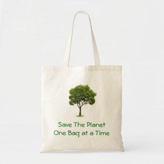 Salvar o planeta sacola tote budget