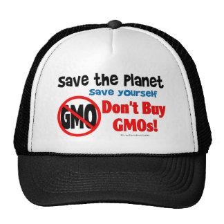 Salvar o planeta, salvar: Não compre GMOs! Boné