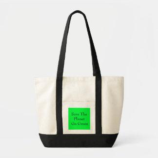 Salvar o planeta vão verde bolsa para compras