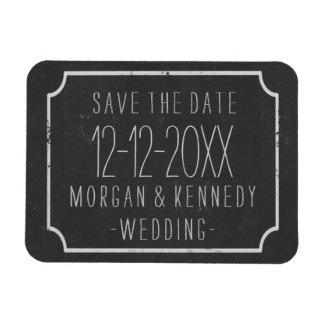 Salvar o quadro da data que Wedding o ímã de Flexi Foto Com Ímã Retangular