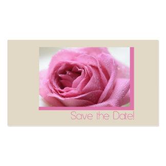 Salvar o rosa do rosa da data cartão de visita