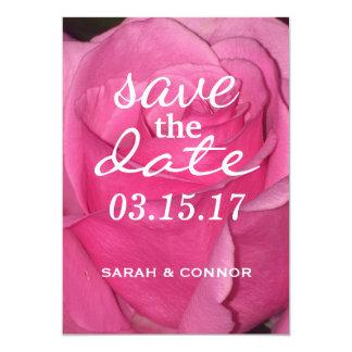SALVAR o rosa do rosa da DATA Convite 12.7 X 17.78cm