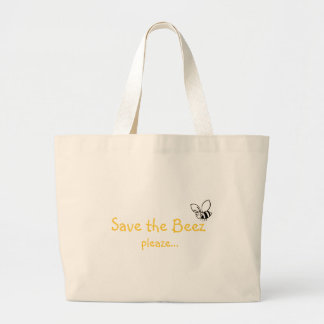 Salvar o saco do pleaze de Beez… - personalizado Bolsa Tote Grande