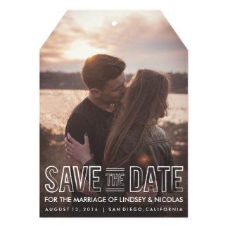Salvar o Tag do casamento da data Convite 12.7 X 17.78cm