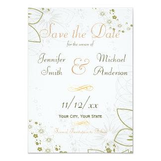 Salvar o verde da data e o casamento simples do convite 11.30 x 15.87cm